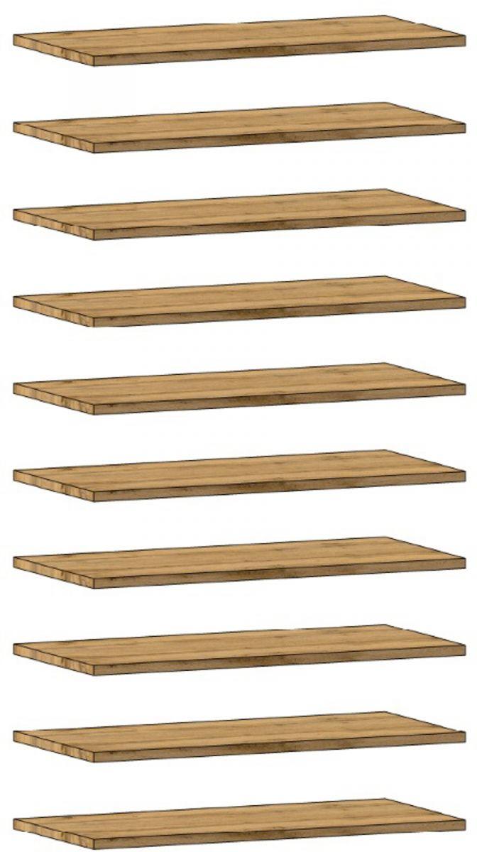 10er Set Einlegeböden für Garderobenschrank Schuhschrank Coast Wotan Eiche 66 cm