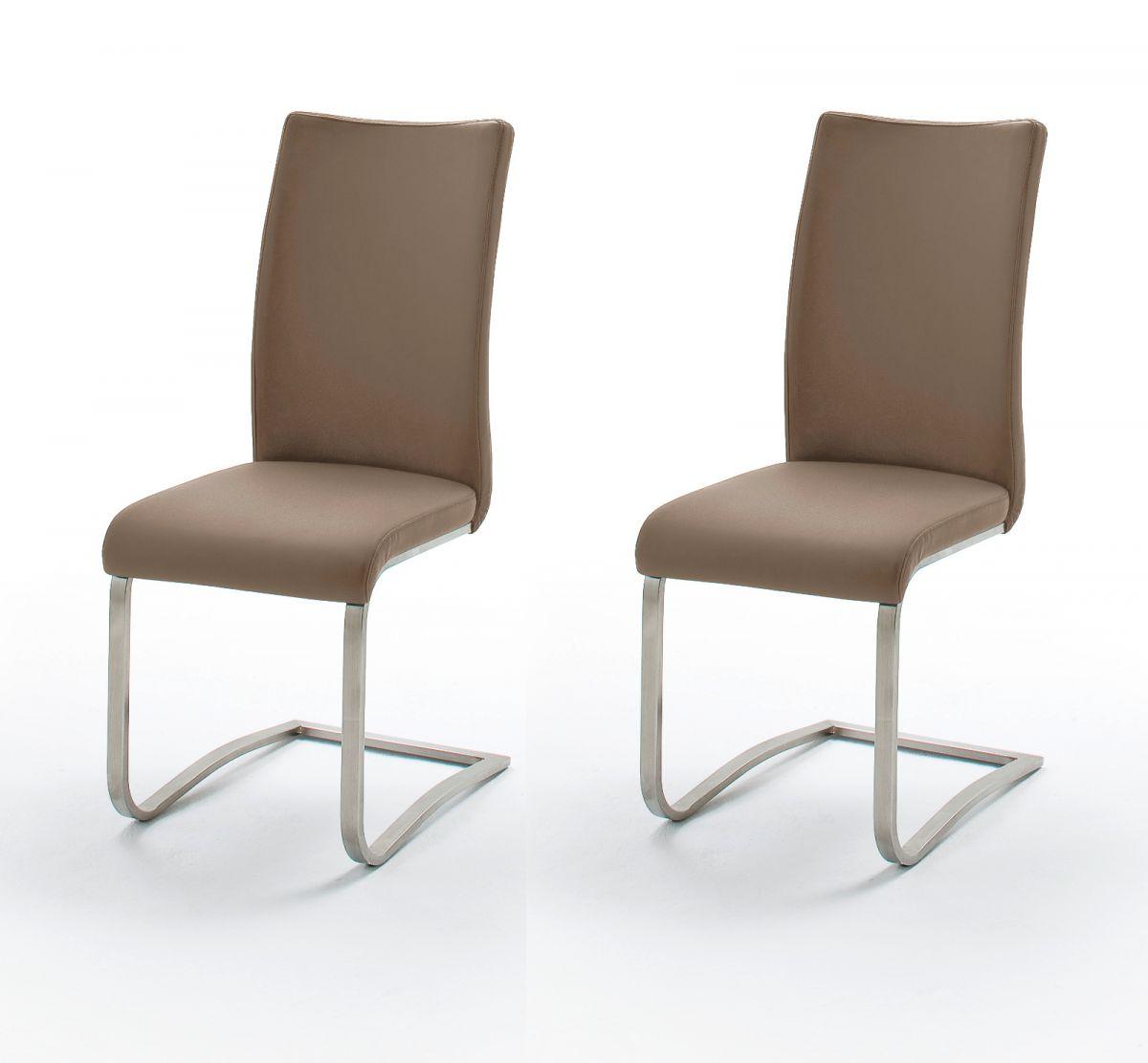 2 x Stuhl Arco Cappuccino Schwinger Kunstleder
