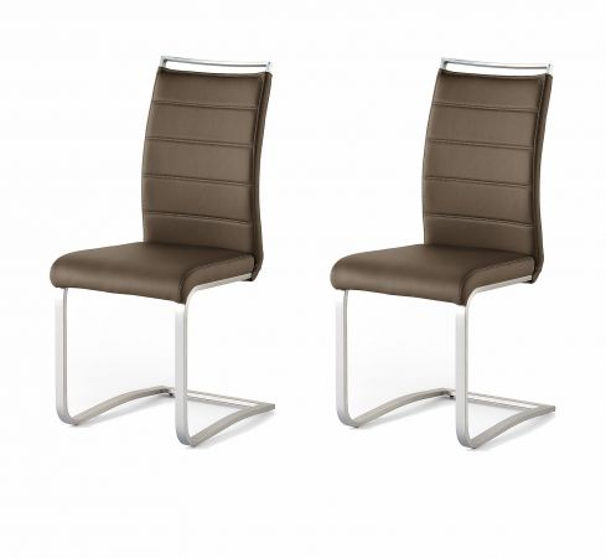 2 x Stuhl Pescara Braun Schwinger Kunstleder