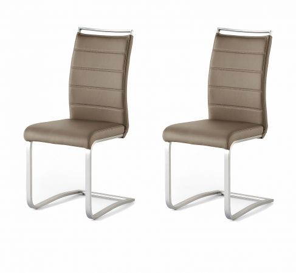 2 x Stuhl Pescara Cappuccino Schwinger Kunstleder