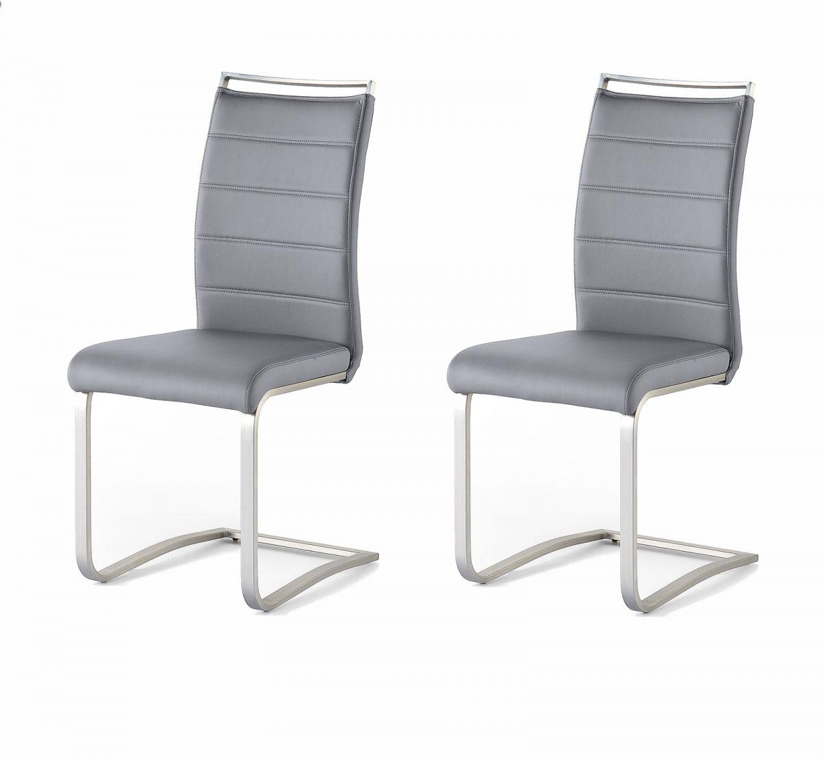 2 x Stuhl Pescara Grau Schwinger Kunstleder