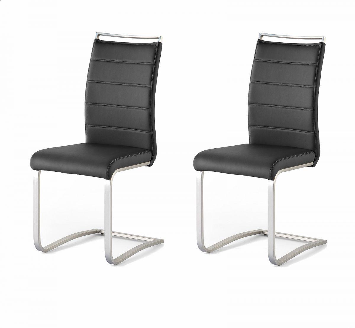 2 x Stuhl Pescara Schwarz Schwinger Kunstleder