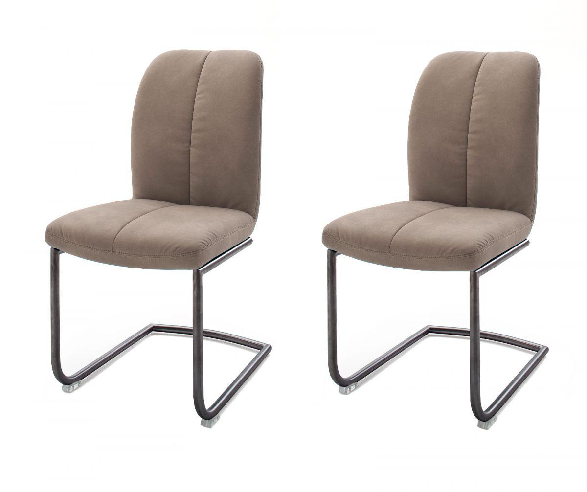 2 x Stuhl Tessera Schlamm Schwinger Kunstleder