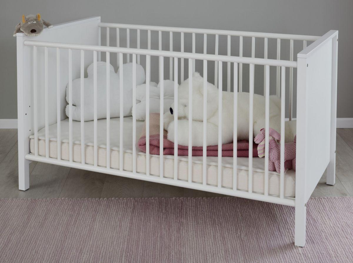 Babyzimmer Babybett inkl- Matratzenrahmen weiss
