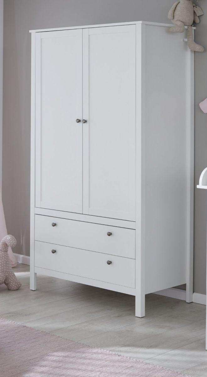 Babyzimmer Kleiderschrank Ole in weiss 91 x 192 cm