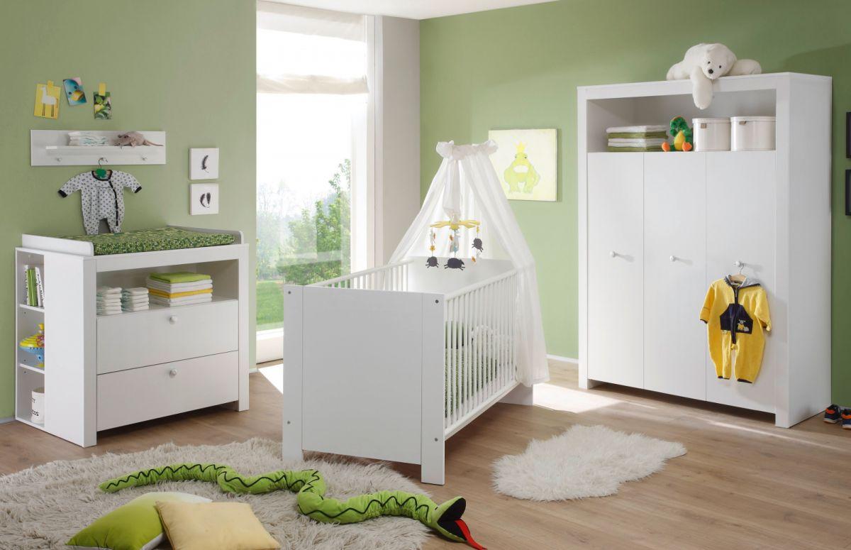 Babyzimmer komplett Set Olivia weiss 5-teilig