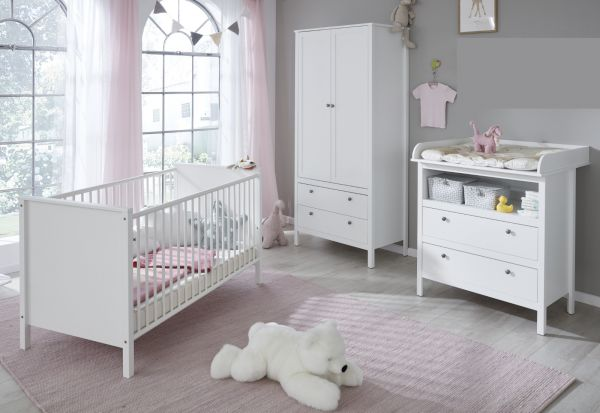 Babyzimmer Ole in weiss komplett Set 3-teilig