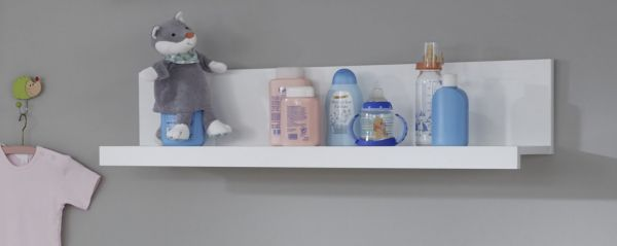 Babyzimmer Wandregal Ole weiss 90 cm