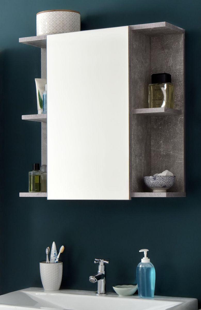 Bad Spiegelschrank Nano in grau Beton Stone Design 60 cm
