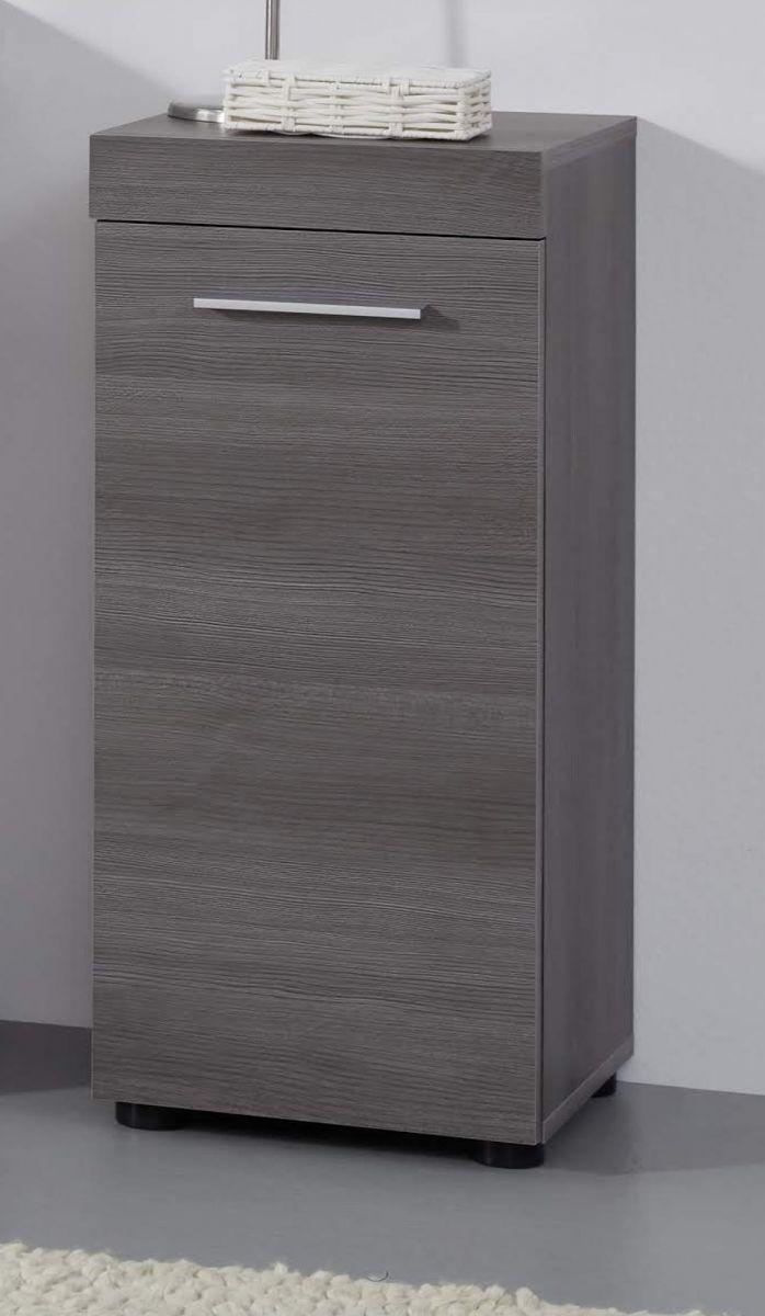 Badezimmer Kommode Runner Sardegna grau Rauchsilber 30 x 76 cm