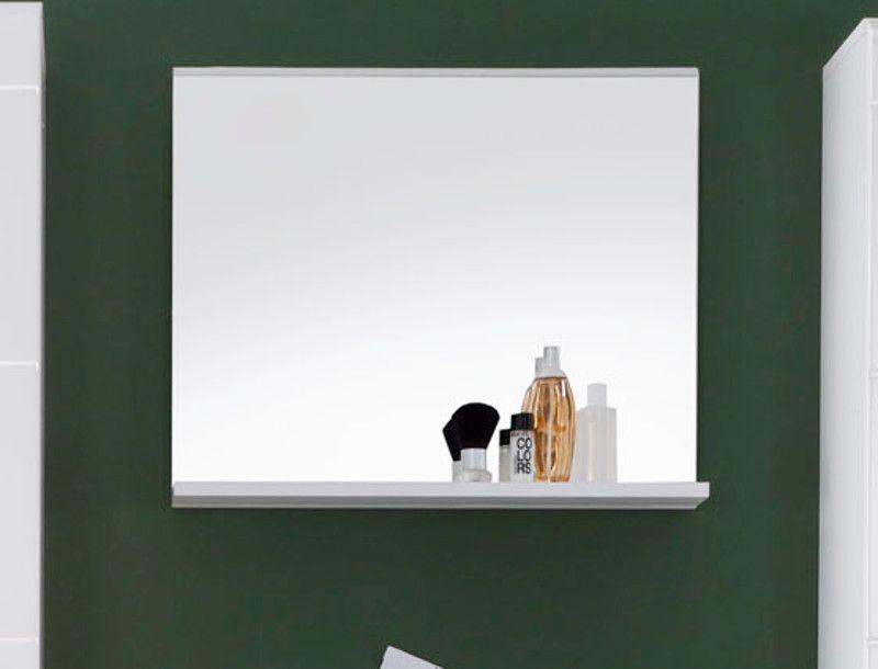 Badezimmer Spiegel weiss mit Ablage Mezzo 60x50 cm