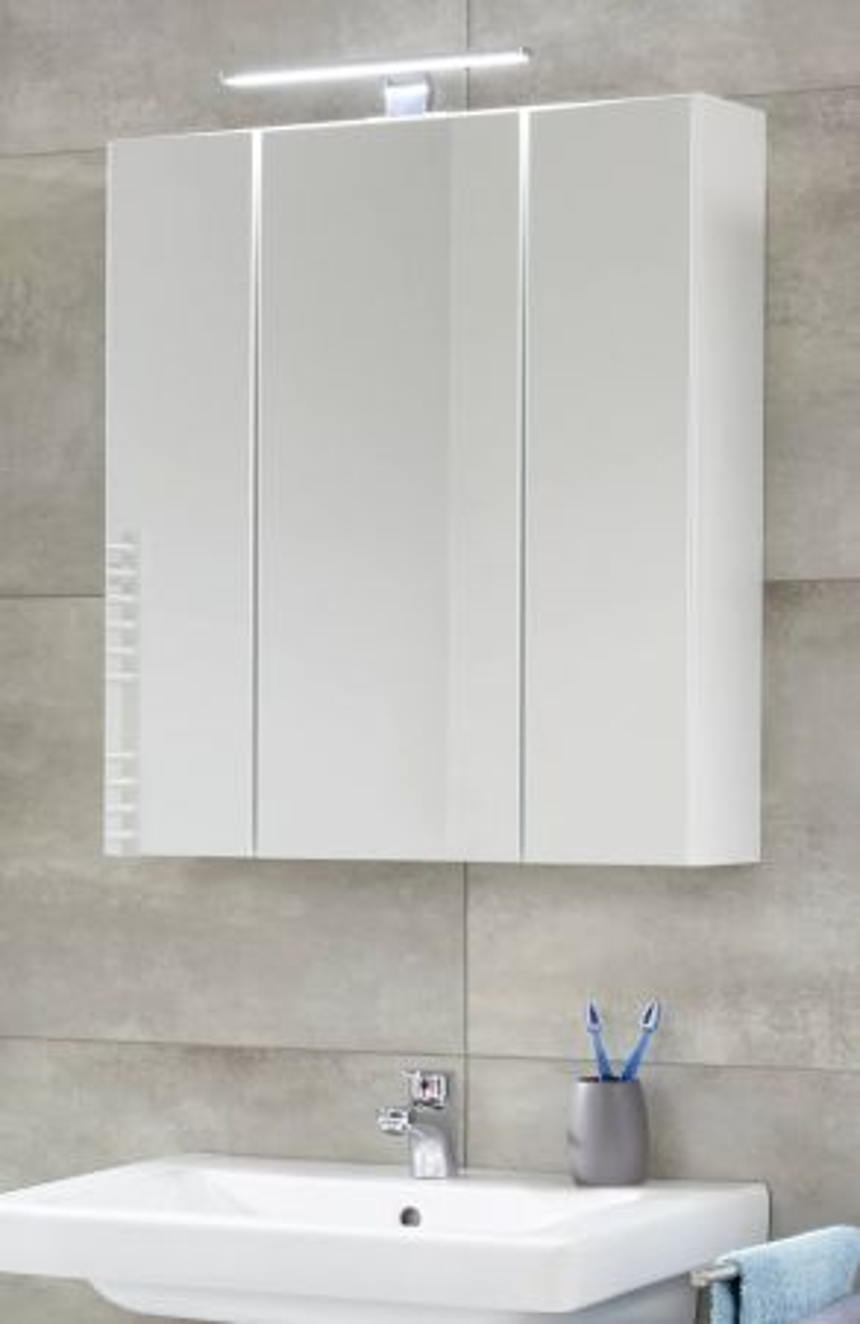 Badezimmer Spiegelschrank Monte in weiss 60 x 74 cm