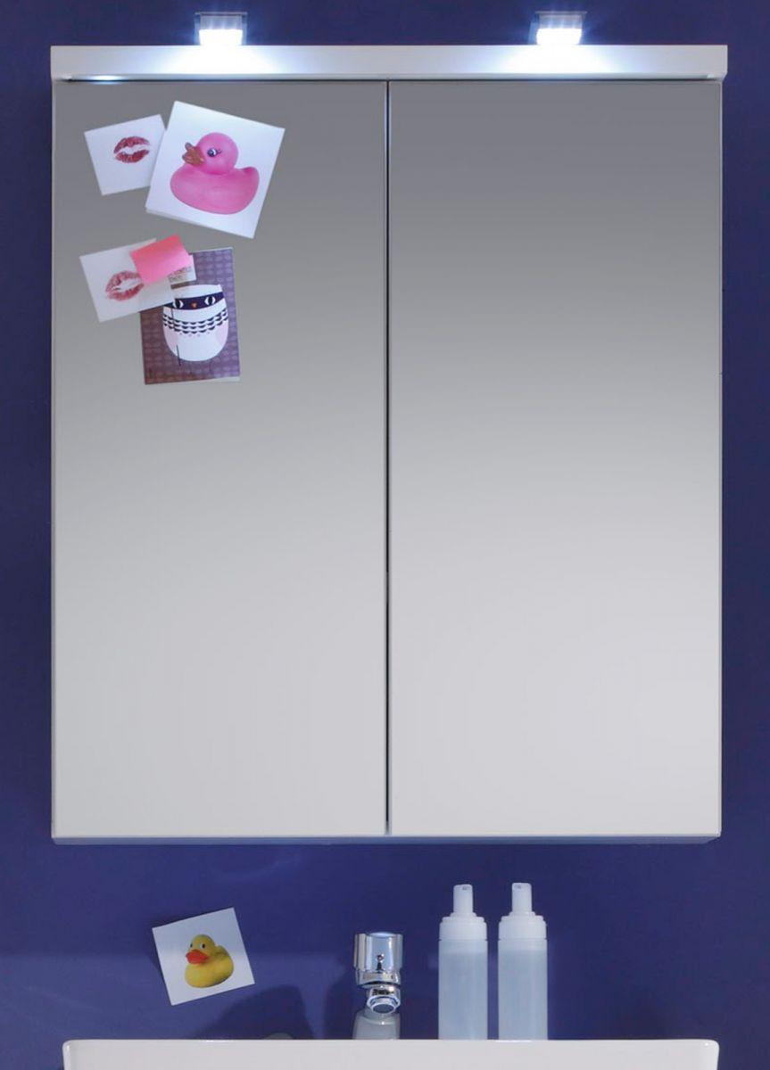 Badezimmer Spiegelschrank Nightlife weiss 65 x 80 cm