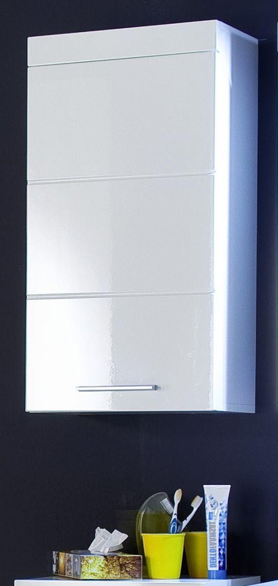 Badmöbel Hängeschrank Amanda Hochglanz weiss 37 x 77 cm