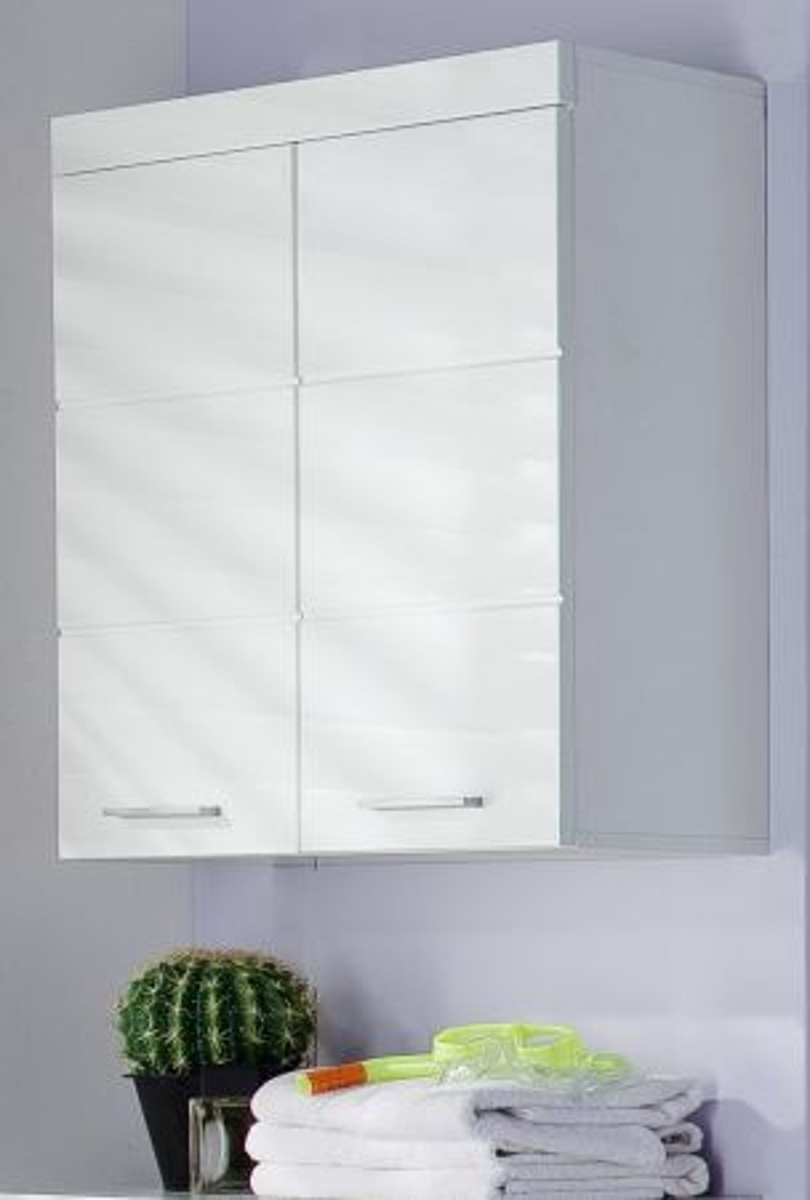 Badmöbel Hängeschrank Amanda Hochglanz weiss 73 x 77 cm