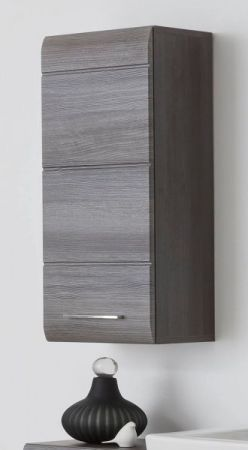 Badmöbel Hängeschrank Line Sardegna grau Rauchsilber 30 x 77 cm