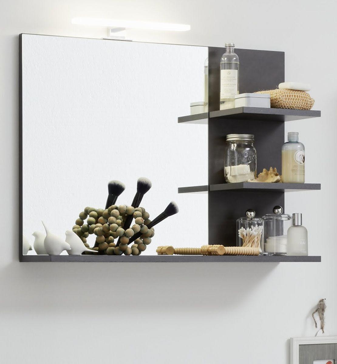 Badmöbel Spiegel Cancun Matera grau 72 cm