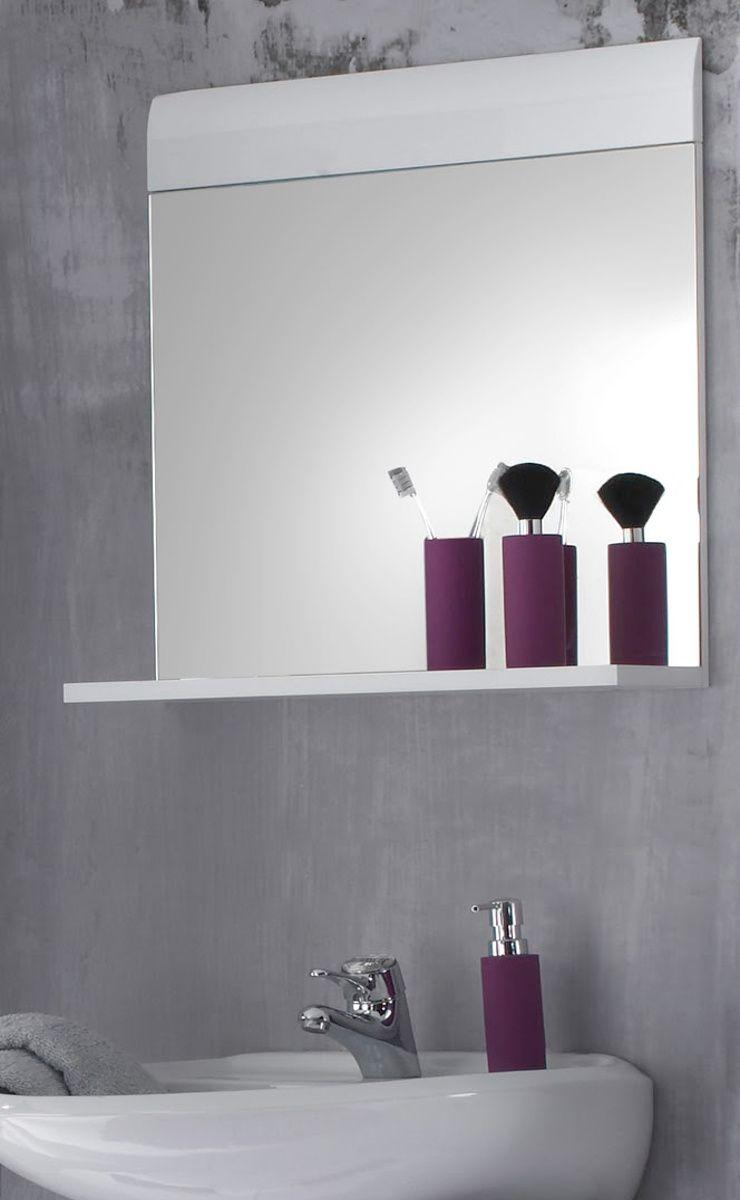 Badmöbel Spiegel Skin Hochglanz weiss