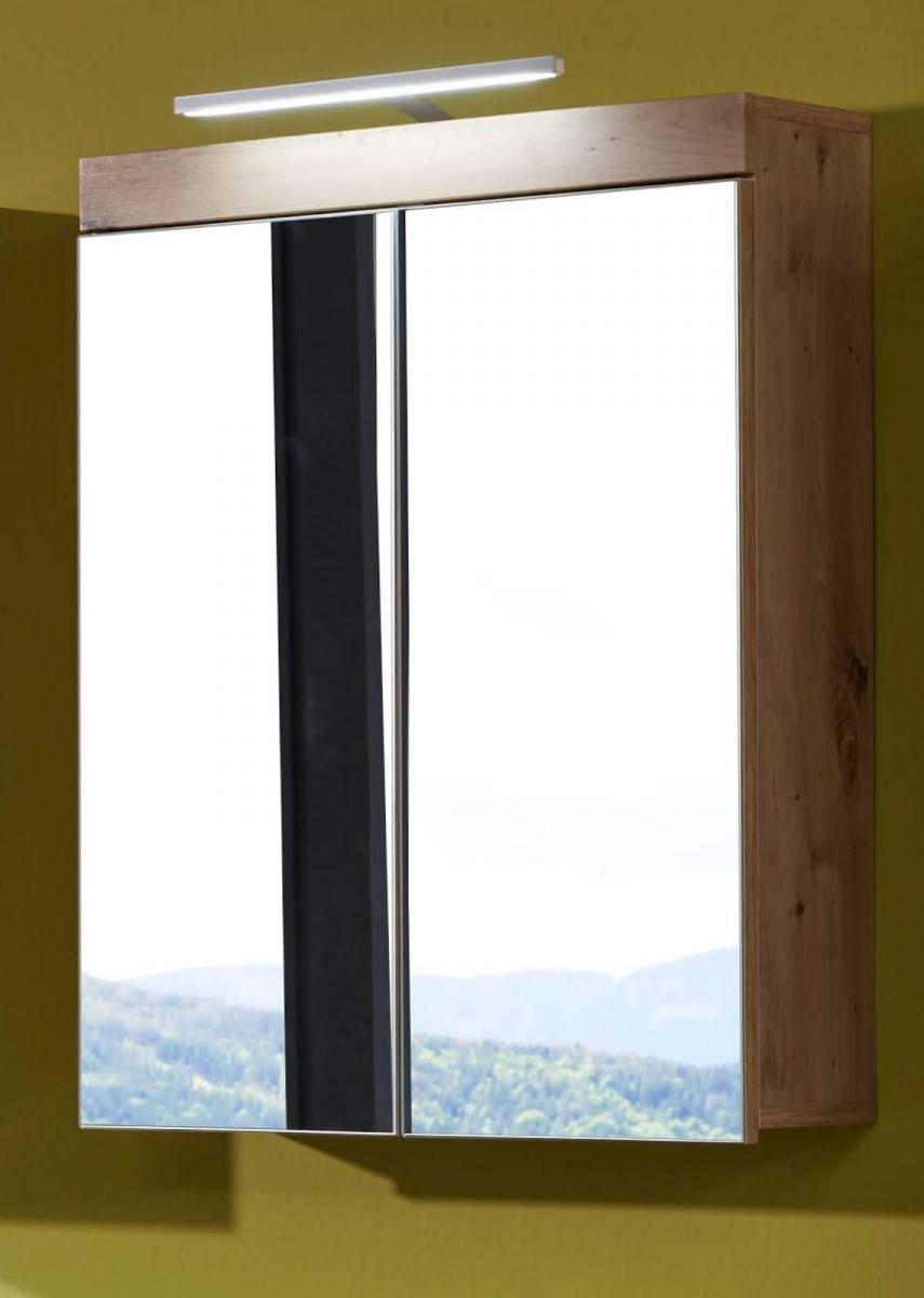 Badmöbel Spiegelschrank Eiche 60 cm Amanda