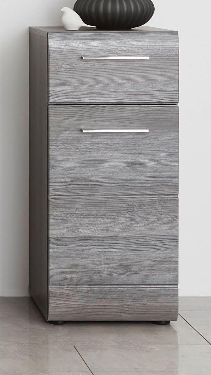 Badmöbel Unterschrank Line Sardegna grau Rauchsilber 30 x 80 cm