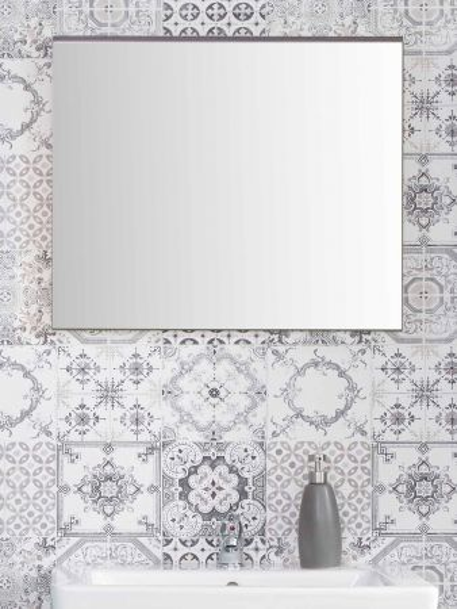 Badspiegel SetOne Sardegna grau Rauchsilber 60 x 55 cm