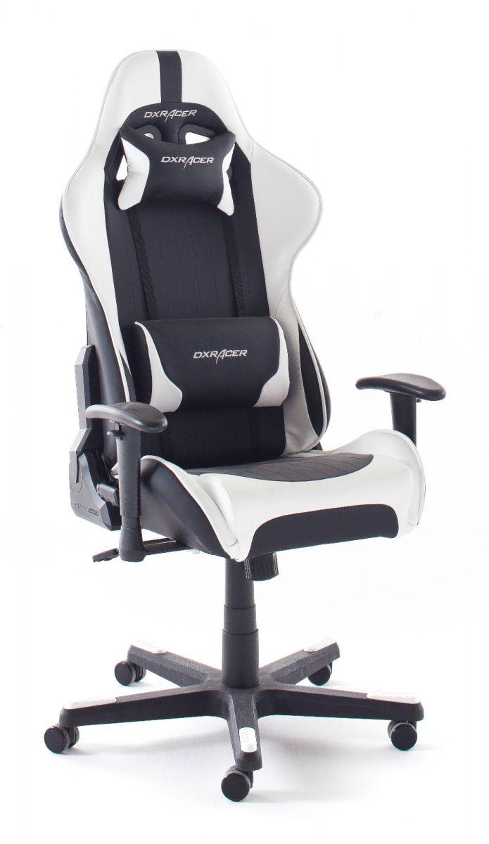 Bürostuhl DX-Racer schwarz und weiss