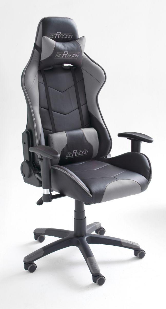 Bürostuhl Mc Racing schwarz und grau