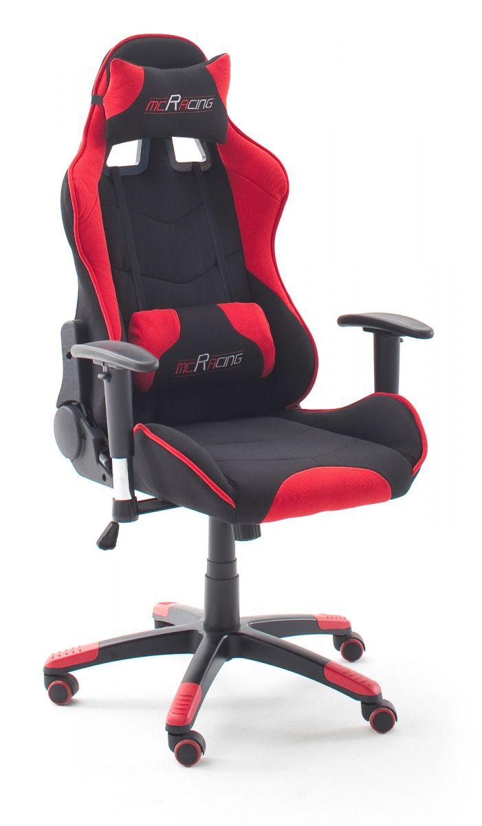 Bürostuhl Mc Racing schwarz und rot