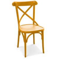 Bugholzstuhl NIV Holzsitz lackiert RAL gelb-orange Töne