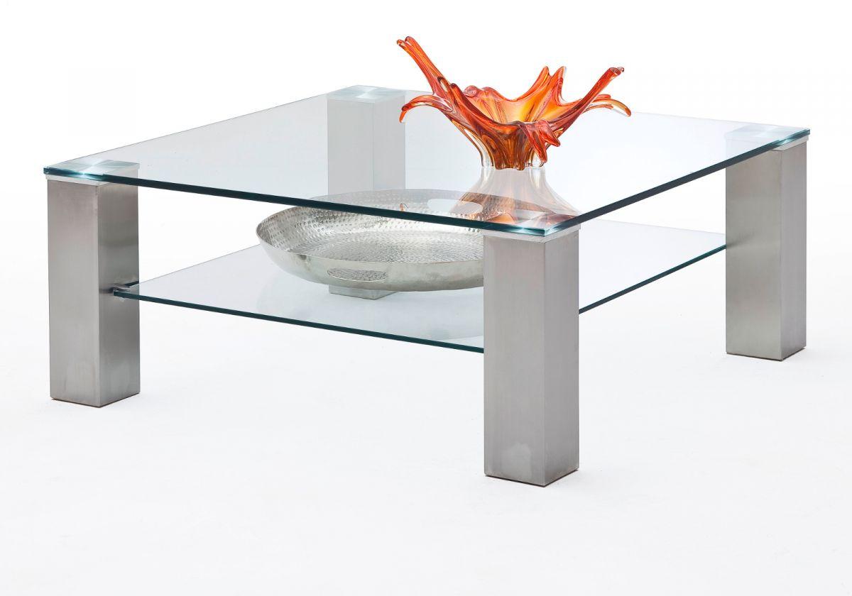 Couchtisch Glas und Metall 90 cm