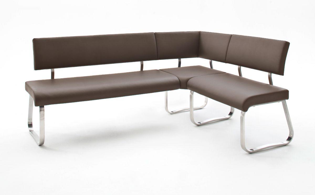 Eckbank Arco Braun Kunstleder 200 x 150 cm