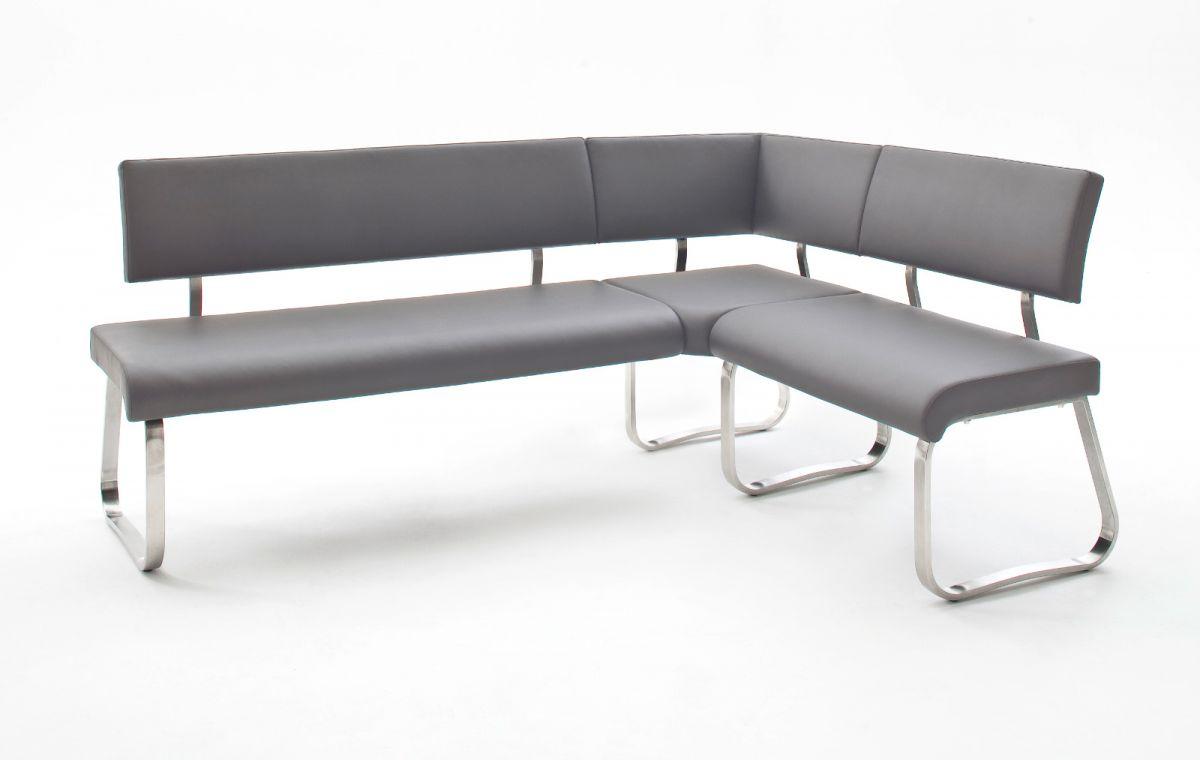 Eckbank Arco Grau Leder 200 x 150 cm