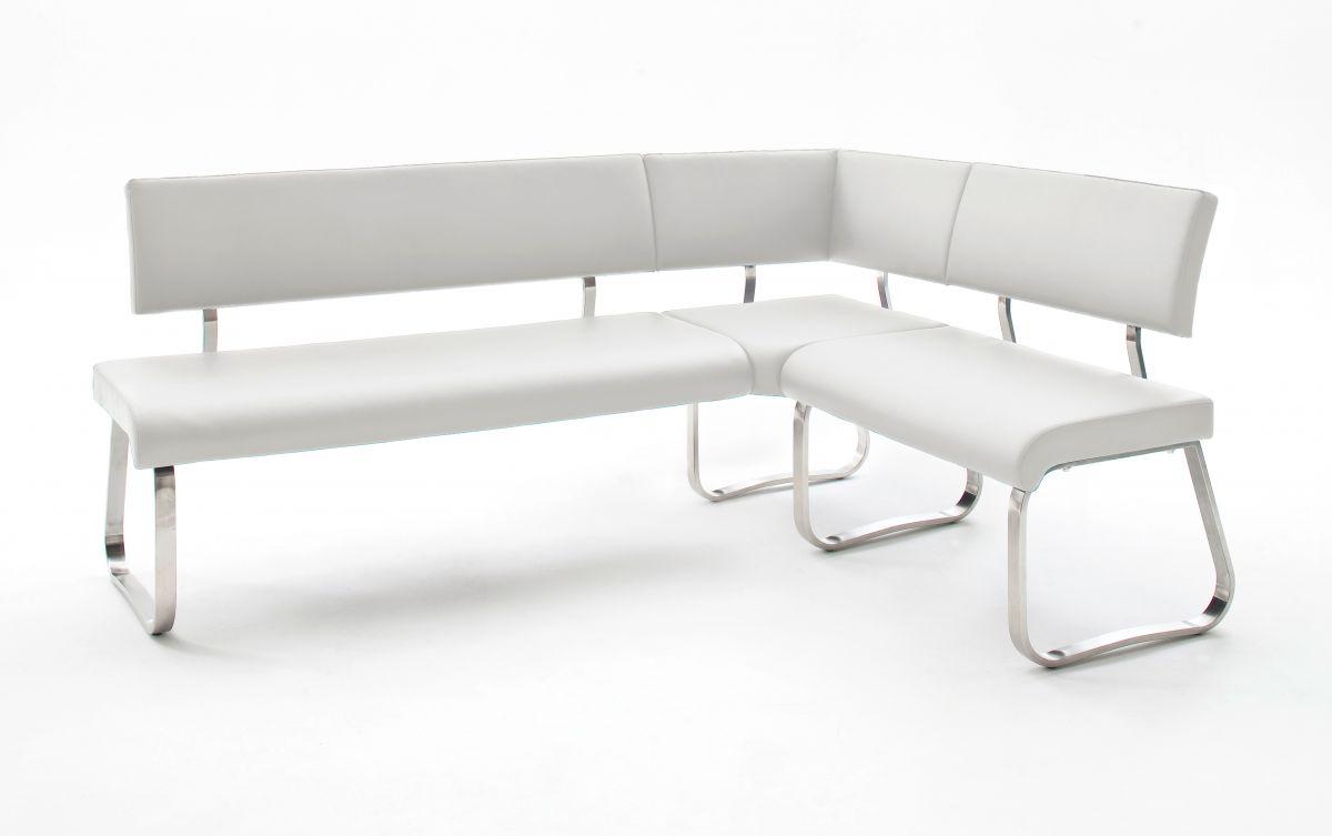 Eckbank Arco Weiss Leder 200 x 150 cm