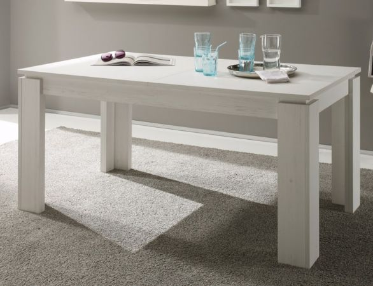 Esstisch Anderson Pinie weiss ausziehbar Holztisch 160 - 200 cm