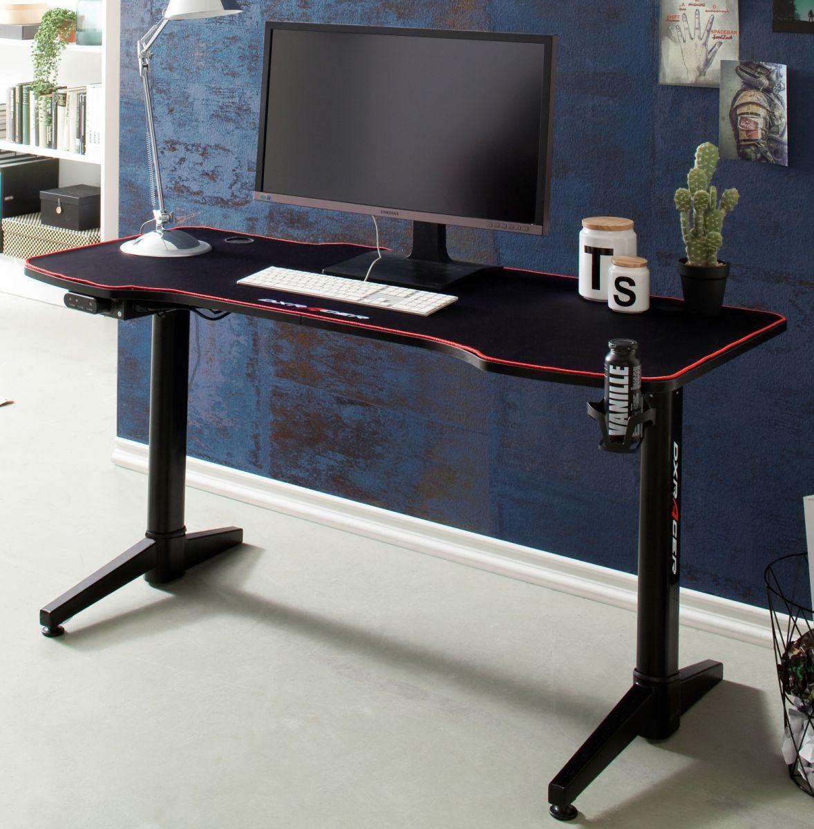 Gamingtisch DX-Racer in schwarz elektrisch höhenverstellbar 140 cm