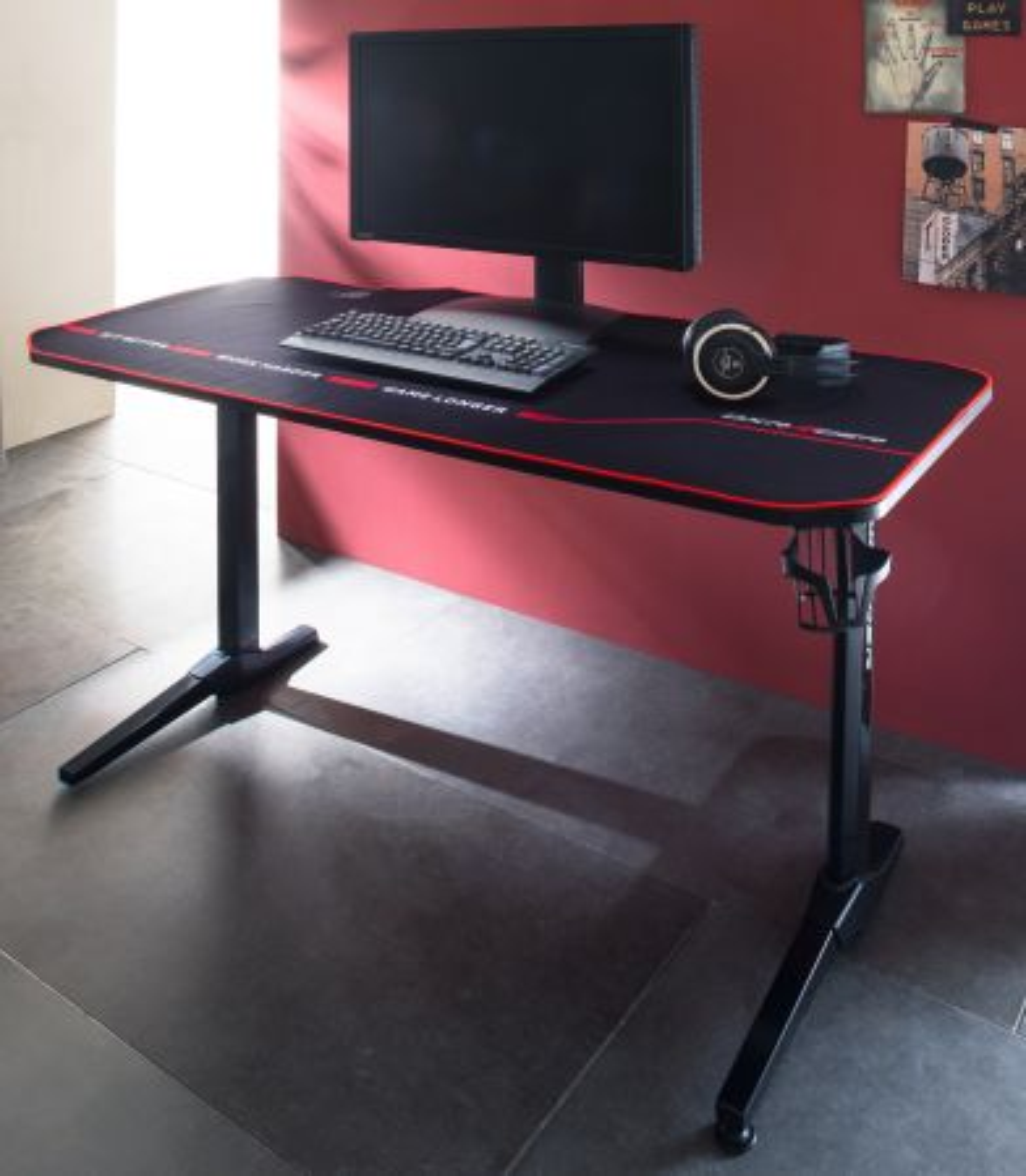 Gamingtisch DX-Racer in schwarz Schreibtisch 140 cm