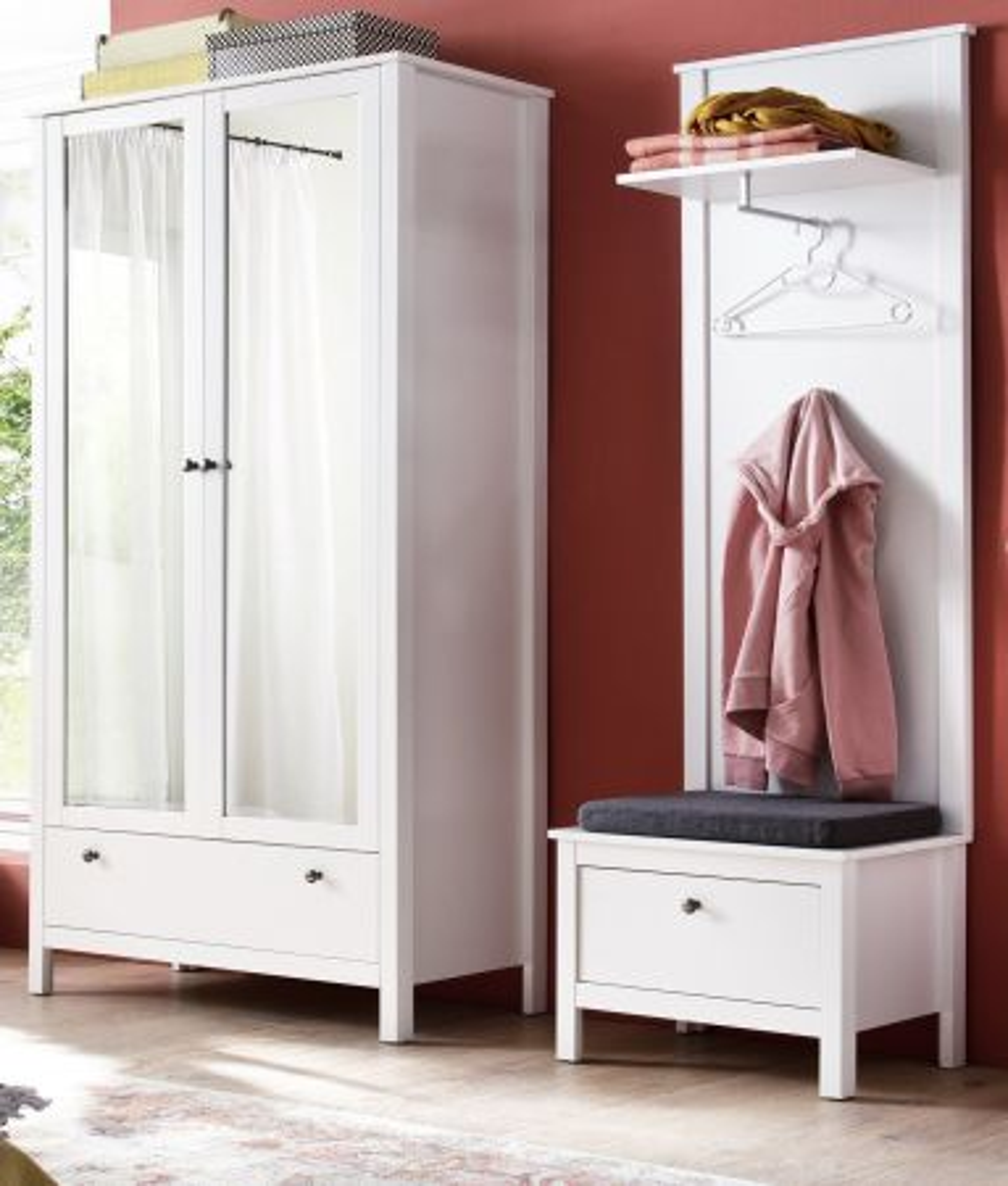 Garderobe Set Ole weiss 3-teilig 160 cm