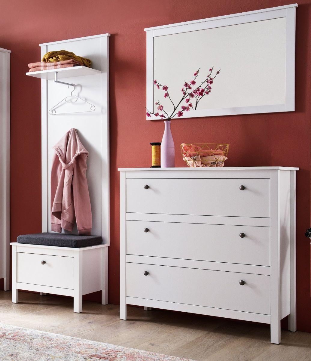 Garderobe Set Ole weiss 4-teilig 160 cm