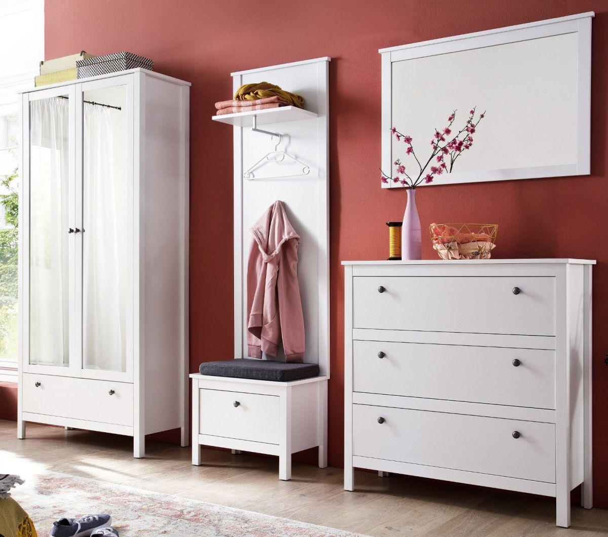 Garderobe Set Ole weiss 5-teilig 265 cm