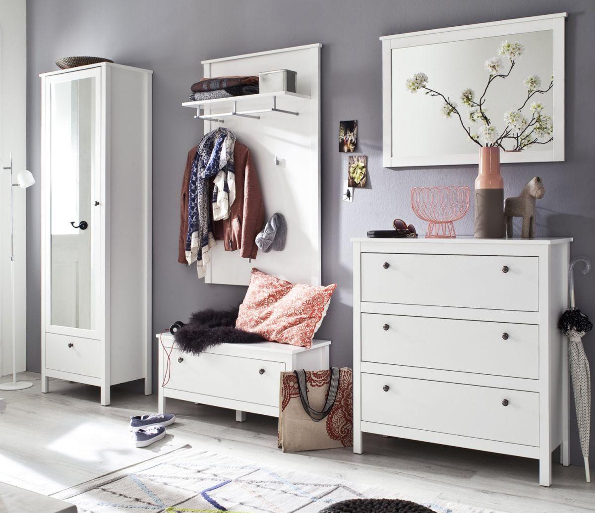 Garderobe Set Ole weiss 5-teilig 270 cm