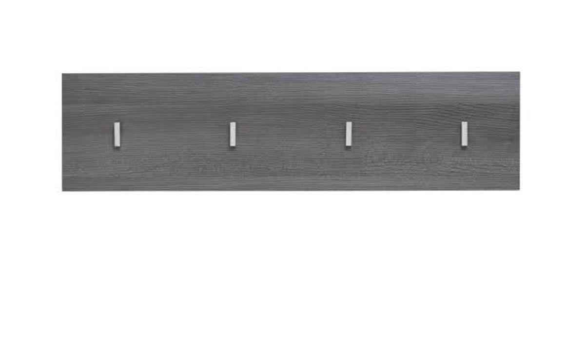 Garderobenleiste Line Sardegna grau Rauchsilber 80 x 21 cm