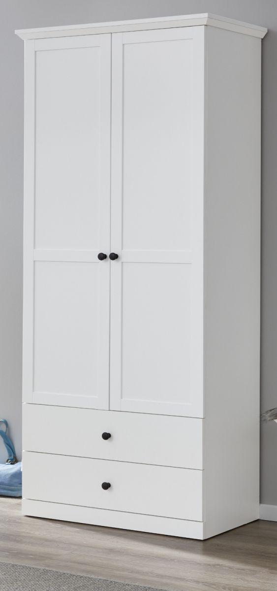 Garderobenschrank Baxter in weiss 81 cm