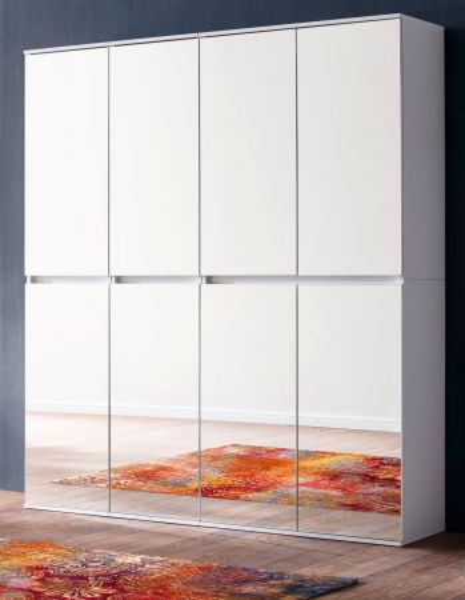 Garderobenschrank Mirror weiss 148 cm