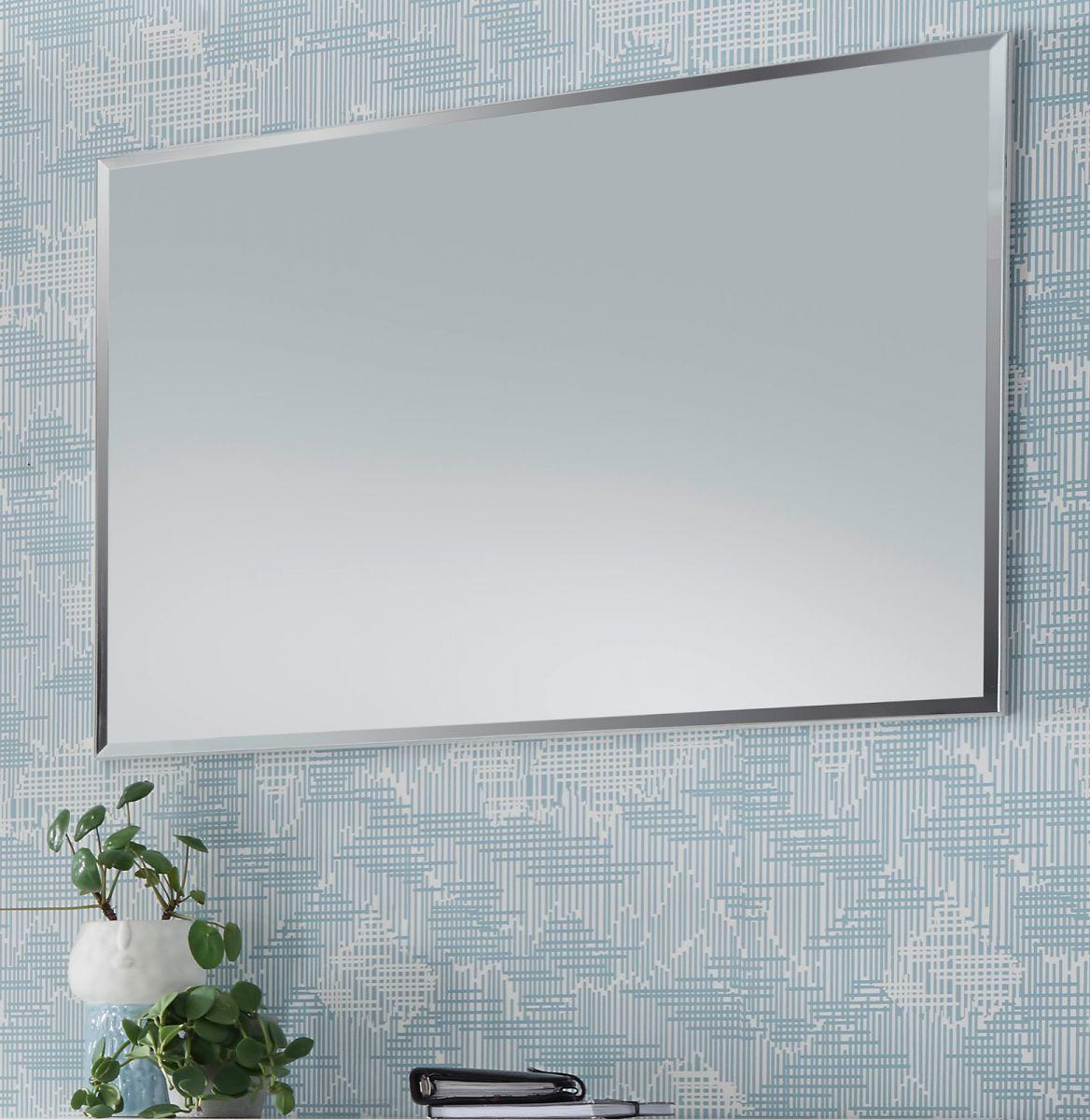Garderobenspiegel Cervo matt weiss lackiert 85 x 60 cm