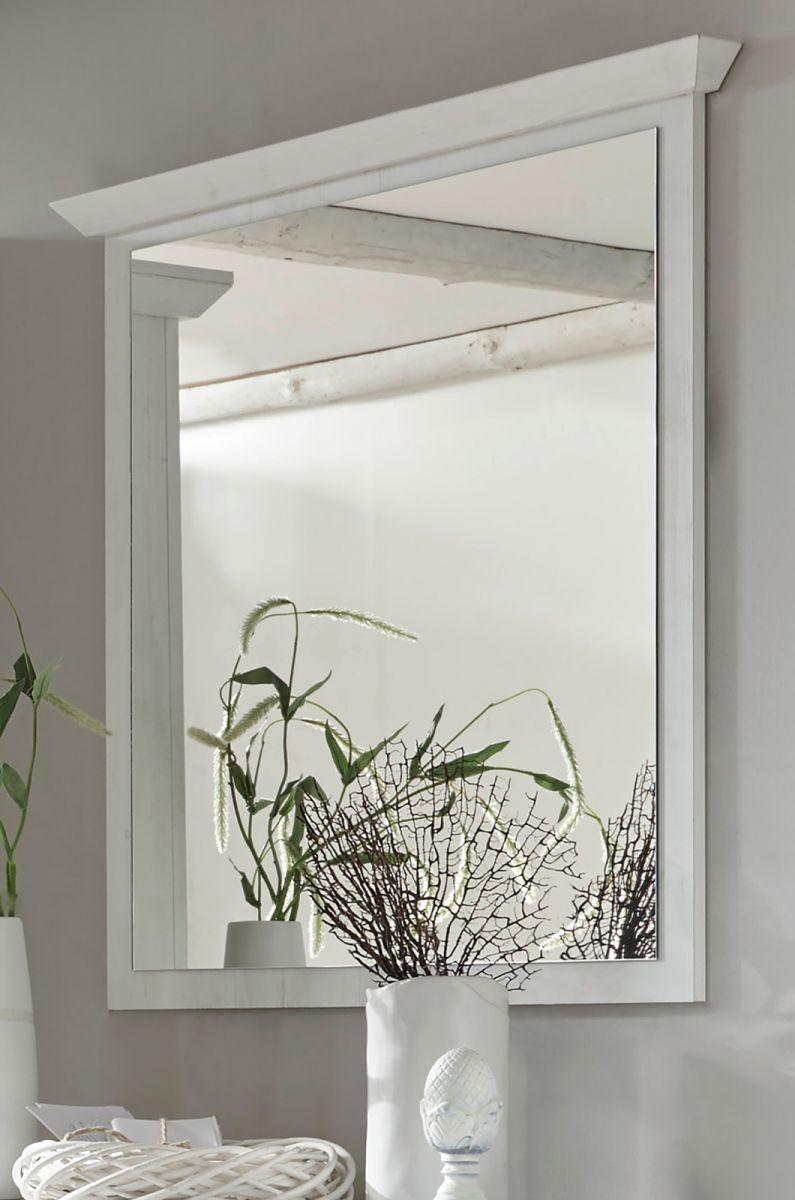 Garderobenspiegel Hooge in Pinie weiss 92 x 99 cm