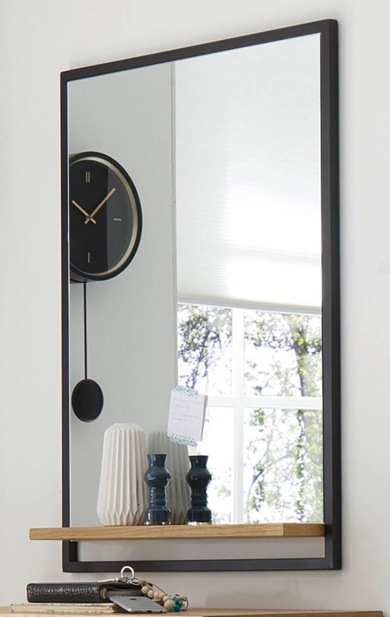 Garderobenspiegel Yorkshire in Eiche und schwarz 69 x 93 cm