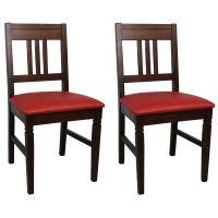 Holzstuhl mit Sitzpolster Samo (2er-Set) Mircofaser