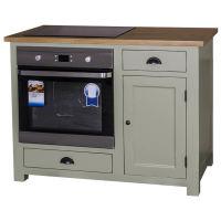 Küchenmodul Backofenschrank im Landhausstil - Zinkplatte gewachst