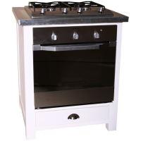Landhaus Küchenmodul Backofen - Zinkplatte lackiert