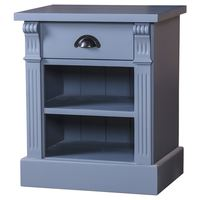Landhaus-Nachttisch eine Schublade einfarbig lackiert